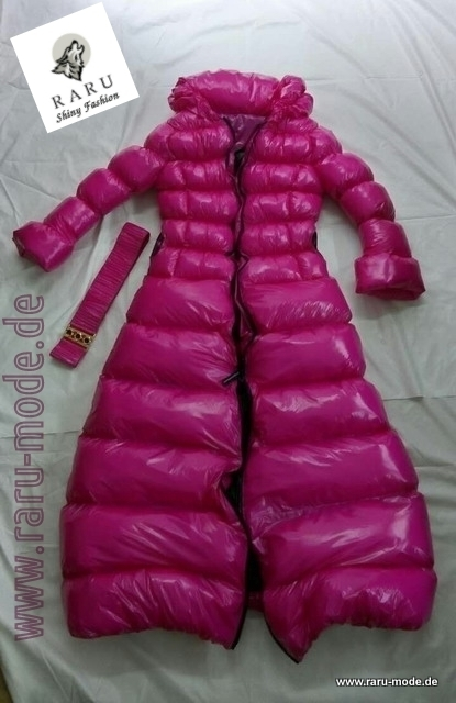 Exclusive Nylon Raru Gloss Dress Wet Look Style Parka 0mN8wn
