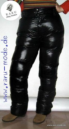 RARU nylon pants gloss pants sports trousers black