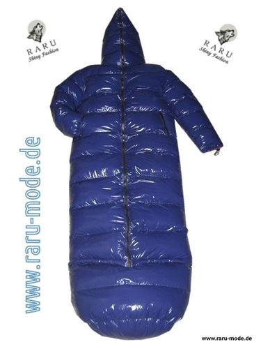 Wetlook gloss nylon down coat down sleeping bag 2in1