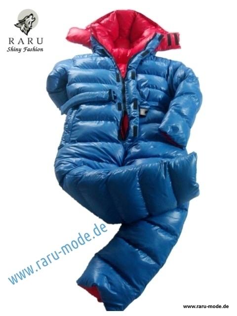 RARU gloss nylon down Overall Wetlook Winter overalls