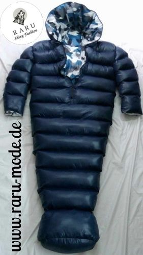 RARU Mode fashion - gloss nylon wet look winter sleeping bag