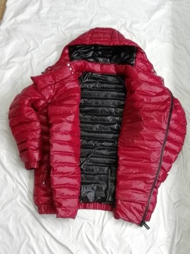 Nylon Wet-Look Winterjacke